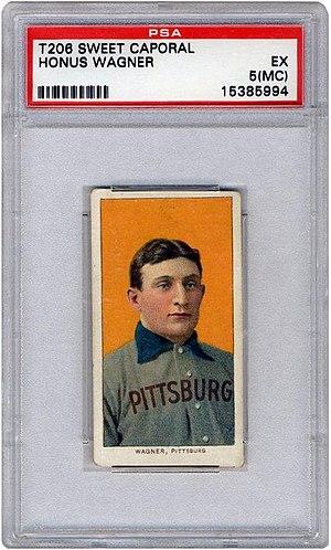 T206 Honus Wagner - 1909 T206 Honus Wagner Baseball Card with PSA grade EX 5-MC