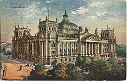 Reichstag, Vintage postcards private collection [Public domain], via Wikimedia Commons