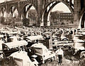 1917 Mack Trucks under 8th Street Bridge.jpg