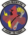 192 Maintenance Sq emblem.png