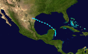 1931 Atlantic hurricane season - Image: 1931 Atlantic tropical storm 1 track