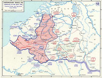 The German Blitzkrieg offensive of mid-May, 1940.