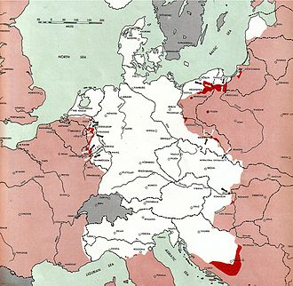 New Order (Nazism) - Areas still under German control in March 1945.