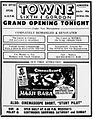1954 - Towne Theater Re-Opening Ad 28 Dec MC - Allentown PA.jpg