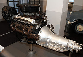 1967 Nissan W64 engine left Nissan Engine Museum.jpg