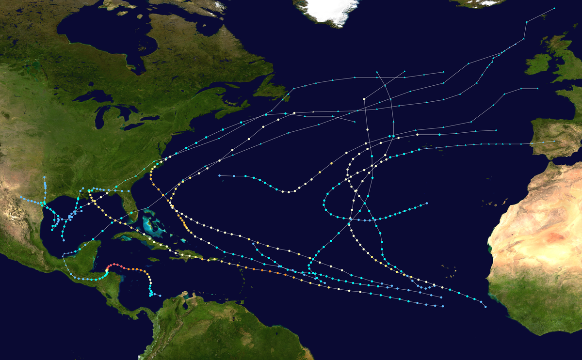 Timeline Of The 1998 Atlantic Hurricane Season Wikipedia