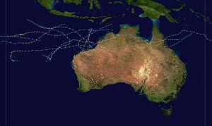1999–2000 Australian region cyclone season - Image: 1999 2000 Australian cyclone season summary