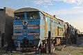 2ТЭ10М-1016, Казахстан, Карагандинская область, станция Балхаш-I, база запаса (Trainpix 162766).jpg