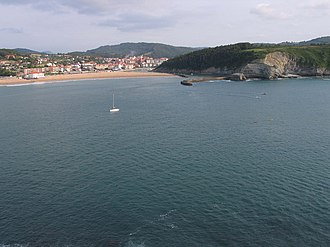 Physical geography of the Basque Country - The Butroe river joins the sea in Plentzia