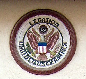 American Legation, Tangier - American Legation Seal above door.