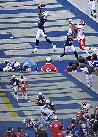 2008 Kansas City Chiefs season - A dramatic conclusion in week 10: San Diego Chargers' Clinton Hart stops the Chiefs' last attempt at winning the game, knocking the ball into Quentin Jammer's arms