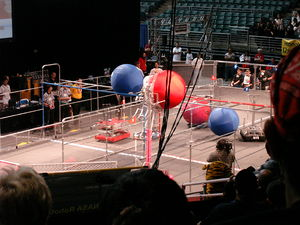 A picture of the 2008 FIRST Robotics Competiti...