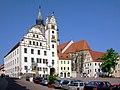 20090503015DR Oschatz Neumarkt Rathaus Aegidienkirche.jpg
