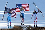 2010 Winter Olympic - Womens downhill medals.jpg