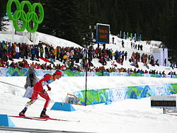 2010 Winter Olympics Johnny Spillane in nordic combined LH10km.jpg