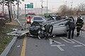 2011년 4월 6일 서울특별시 마포구 성산동 강변북로 입구 교통사고 마포소방서 소방공무원 구조 활동2.jpg