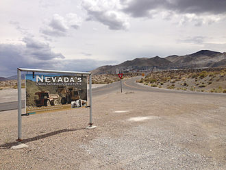Gabbs, Nevada - Mine entrance in Gabbs