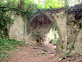 20140526 Caestert; ruins of the castle; bridge.JPG