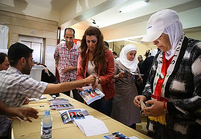 2014 Syrian presidential election day in Damascus (2).jpg