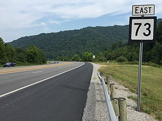 West Virginia Route 73 state highway in Logan County, West Virginia, United States