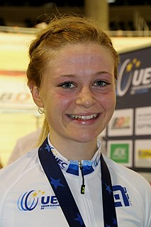 Ellie Dickinson British female road and track cyclist