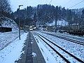 2018-02-09 (103) NÖVOG ET1–ET9 at the early morning at Bahnhof Schwarzenbach an der Pielach.jpg