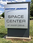 2018-07-29 14 24 37 Sign at the entrance to the Northrop Grumman Space Center at Warp Drive along Atlantic Boulevard in Sterling, Loudoun County, Virginia.jpg