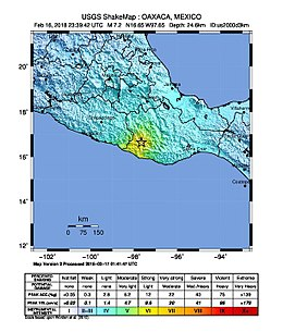 Guajaca Mexico Map.2018 Oaxaca Earthquake Wikipedia