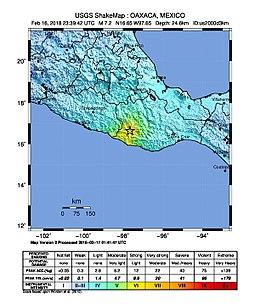 2018 oaxaca earthquake shake mapjpg