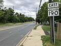 2020-06-11 17 01 21 View east along Maryland State Route 190 (River Road) just east of Maryland State Route 189 (Falls Road) in Potomac, Montgomery County, Maryland.jpg
