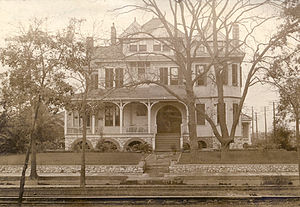 Coleman Adler - Home of Coleman and Rosa Pokorny Adler at 2113 St. Charles Avenue, circa 1908