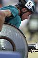 231000 - Athletics wheelchair racing 800m T51 final Fabian Blattman action 2 - 3b - 2000 Sydney race photo.jpg