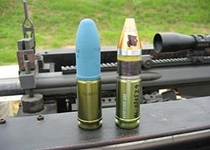 Barrett XM109 - 25 mm rounds for the XM109: XM1050 TP and XM1049 HEDP
