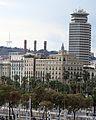 263 La torre Colón des de la terrassa del Museu d'Història de Catalunya.JPG