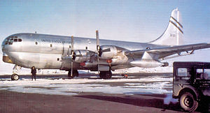 320th Air Expeditionary Wing - 320th Air Refueling Squadron Boeing KC-97G Stratofreighter at Thule AB 1953.