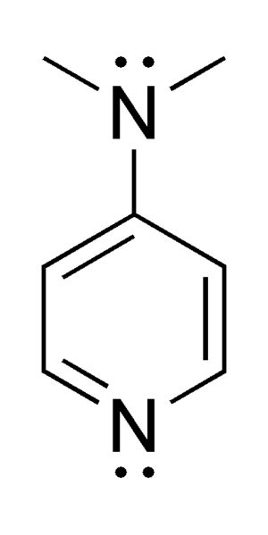 4-Dimethylaminopyridine - Image: 4 Dimethylaminopyridin e chemical structure