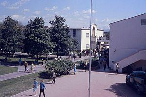 Fullerton College - Interior view of Fullerton JC campus, April, 1963
