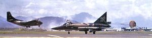 Da Nang Air Base - 64th FIS F-102A landing at Da Nang AB, 1966