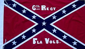 6th Florida Infantry Regiment - Regimental Colors (from ca. March/April 1864 to December 16th, 1864)