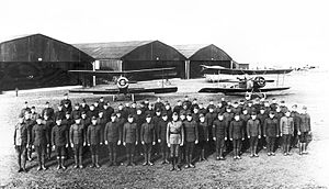 99th Reconnaissance Squadron - Men of the 99th Aero Squadron with their Salmson 2A2s at Parois Airdrome, France, November 1918.