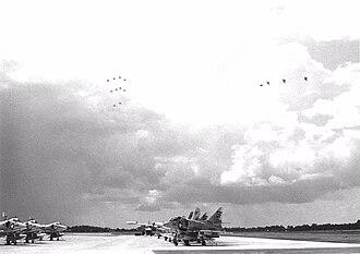 VMFA-142 - VMA-142 A-4Cs at NAS Jacksonville in 1970.