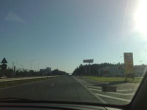 European route E77 - A2 near Riga