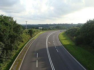 A477 road - Image: A477 trunk road from the bridge geograph.org.uk 1404312