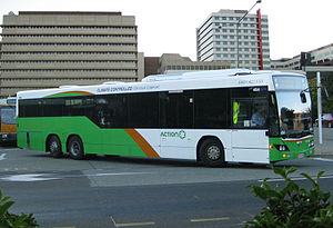Public transport in Canberra - ACTION Custom Coaches bodied Scania K320UB in 2010