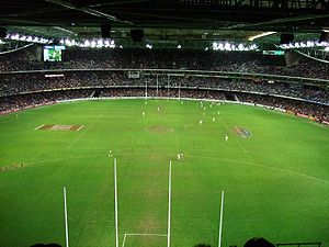 Docklands Stadium - A typical AFL match at Docklands Stadium