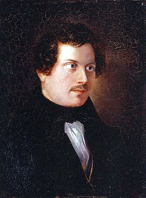 Adolph Friedrich Vollmer - Early Self-portrait