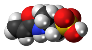 2-Acrylamido-2-methylpropane sulfonic acid - Image: AMPS 3D spacefill