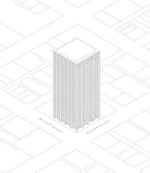 AMP Square - AMP Tower Axonometric Drawing