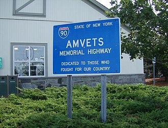 AMVETS - AMVETS memorial sign on Thruway