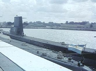 The locally upgraded Balao-class submarine ARA Santiago del Estero, Argentine Naval Base at Mar del Plata, circa 1969 ARA-Stgo.jpg